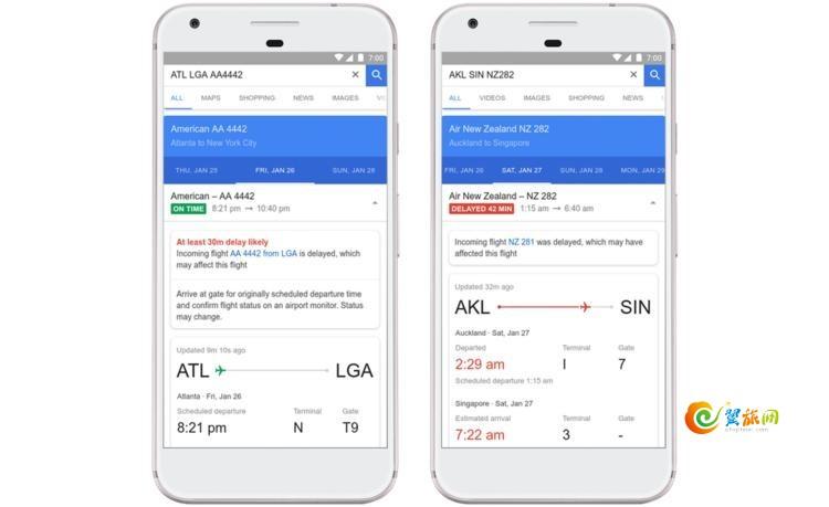 Google航班搜索推航班延误预测,还会告知具体原因