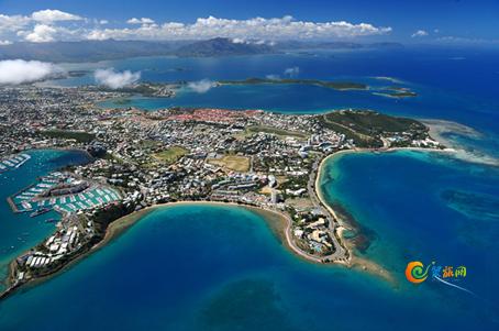 图注:新喀里多尼亚航拍视角